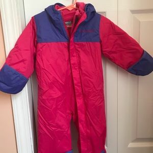 Columbia 6-12m snow suit bunting double lined